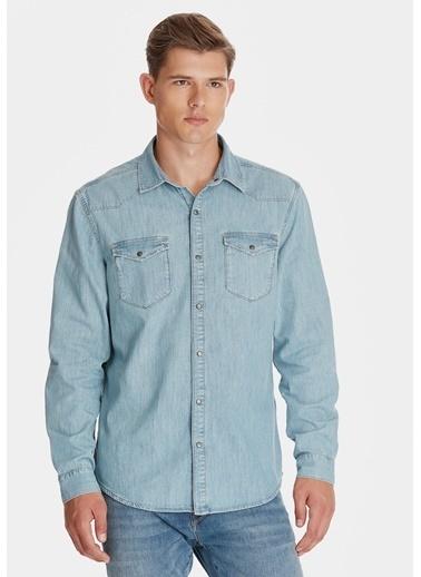 Mavi Jean Gömlek | Rio - Dar Kesim İndigo